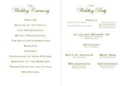 Wedding Programme Book 2